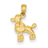 Poodle Dog Pendant 14k Gold C3515