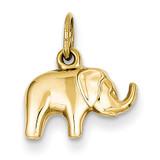 Elephant Charm 14k Gold C3531