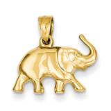3-D Elephant Pendant 14k Gold C3533