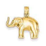 Elephant Pendant 14k Gold C3534