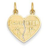 Break-apart Mom & Daughter Charm 14k Gold C353A