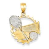 Tennis Pendant 14k Gold C3542