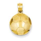Soccer Ball Pendant 14k Gold C3579