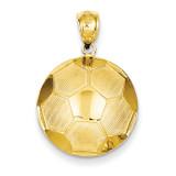 Soccer Ball Pendant 14k Gold C3580