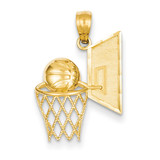 Basketball Pendant 14k Gold C3583
