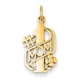 #1 Mom Charm 14k Gold C360