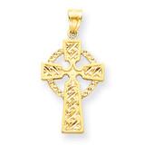 Celtic Cross Pendant 14k Gold Diamond-cut C3608