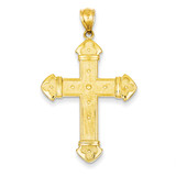 Budded Cross Pendant 14k Gold C3614