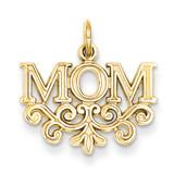 Mom Charm 14k Gold C363