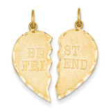 Best Friend Break-apart Charm 14k Gold C369