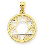 Filigree Star of David Pendant 14k Gold C3739