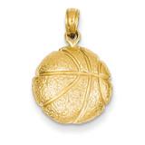 Basketball Pendant 14k Gold C3773