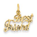 Best Friend Charm 14k Gold C378