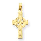 Reversible God is Love Celtic Cross Pendant 14k Gold C3802