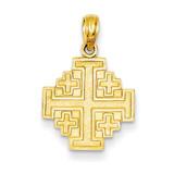 Jerusalem Cross Pendant 14k Gold C3832