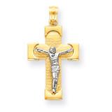 Crucifix Pendant 14k Two-Tone Gold C3902