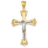 Crucifix Pendant 14k Two-Tone Gold C3922