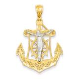 Mariner's Cross Pendant 14k Two-Tone Gold C3929