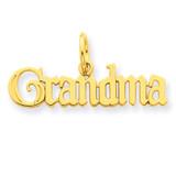Grandma Charm 14k Gold C395