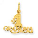 #1 Grandma Charm 14k Gold C396