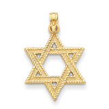 Star of David Pendant 14k Gold C3988