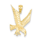 Eagle Pendant 14k Gold Diamond-cut C4037
