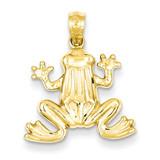 Frog Pendant 14k Gold Polished C4038