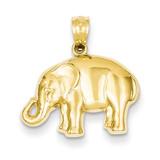 Elephant Pendant 14k Gold Polished C4040