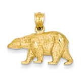 Bear Pendant 14k Gold Diamond-cut C4061