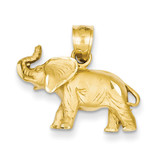 Elephant Pendant 14k Gold Diamond-cut C4066