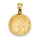 Basketball Charm 14k Gold C41