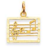 Musical Chart Charm 14k Gold C416