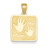 Mom & Me Hands Pendant 14k Gold C4168