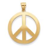 Peace Sign Pendant 14k Gold C4171