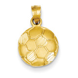 Soccer Ball Charm 14k Gold C42
