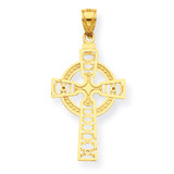 Celtic Cross with Eternity Circle Pendant 14k Gold C4250