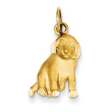 Dog Charm 14k Gold C43