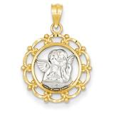 Rhodium Angel Pendant 14k Gold C4412