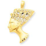 Nefertiti Charm 14k Gold C445