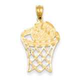 Basketball Pendant 14k Gold C4504
