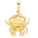 Cancer Zodiac Charm 14k Gold C467