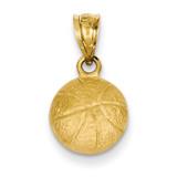 Basketball Charm 14k Gold C47