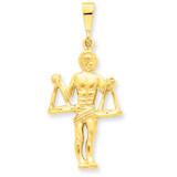 Libra Zodiac Charm 14k Gold C470