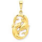 Pisces Zodiac Charm 14k Gold C475