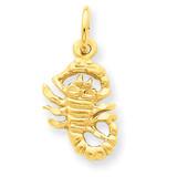 Scorpio Zodiac Charm 14k Gold C483