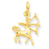 Sagittarius Zodiac Charm 14k Gold C484