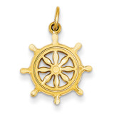 Ships Wheel Charm 14k Gold C488