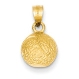 Tennis Ball Pendant 14k Gold C49