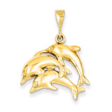 Dolphin Charm 14k Gold C494