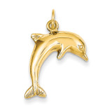 Dolphin Charm 14k Gold C495